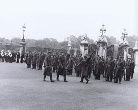1 PARA on parade outside Buckingham Palace, 1969