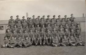 Group photo of D Company, 11th Parachute Battalion, 1955