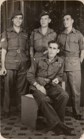 Taylor, Ethel, Issacs and Ward in Serembam, Malaya, 1945