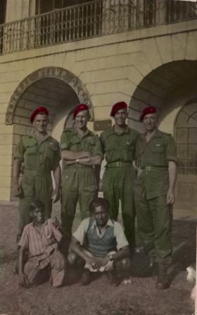 Bernard Taylor in Bombay with friends, July 1945