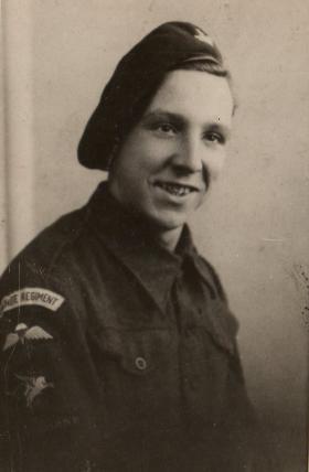 Pte Harold Sands of the 13th Battalion The Parachute Regiment