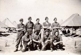 Members of the Ox and Bucks in camp in Gaza shortly after the camp was flooded, circa 1946