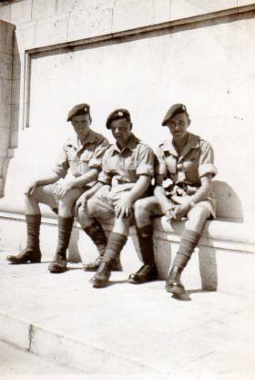Pte Kimber in centre in Tel Aviv, circa 1946