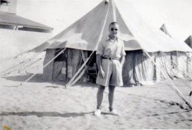 Pte Kimber while in Cyprus, circa 1946