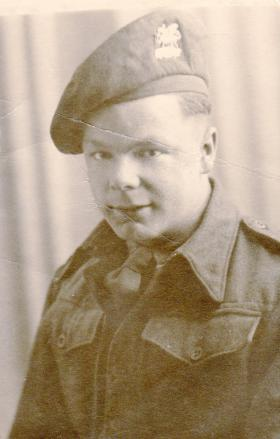 Pte Kimber when he first joined the Buffs, 1944