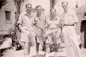 Pte Kimber with colleagues at 6 Airborne Div HQ Palestine, circa 1946