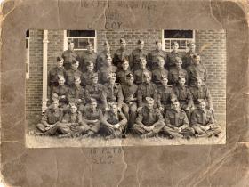 Donald Hicks during basic training, circa 1943