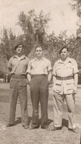 Donald Hicks with friends in Palestine, circa 1946