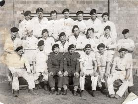 Donald Hicks with members of the RASC in Chef whites, circa 1950s