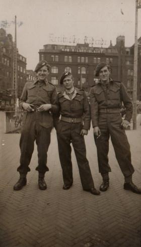 Bernard Taylor, Ron Jones and Cash Casbol In Copenhagen, May 1945