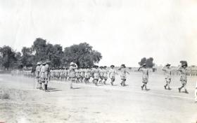 Parade for the C in C by men of the 152 (Indian) Parachute Battalion, Oct 1943