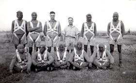152 (Indian) Parachute Battalion during parachute training, circa 1942