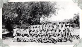 Group photo of men from 152 (Indian) Parachute Battalion, circa 1943