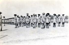Soldiers being inspected by C in C, Oct 1943