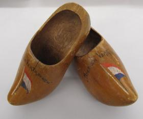 Clogs presented post war to Francis McCormick from the family he sheltered with in Arnhem, 1944