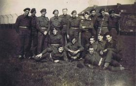 Sgt McCormick with other men from 1st Parachute Battalion in Denmark, 1945