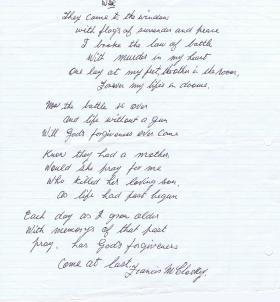War Poem by Sgt F McCormick