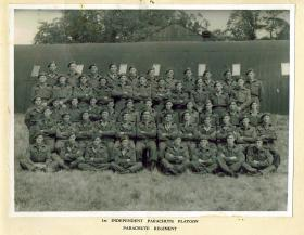 Group Photograph of the 1st Independent Parachute Platoon, January 1945.