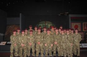 3 PARA group visit to Airborne Assault, February 2012