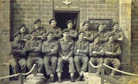 HQ Coy at Hardwick Hall with OC Captain Goodall, early 1940s.