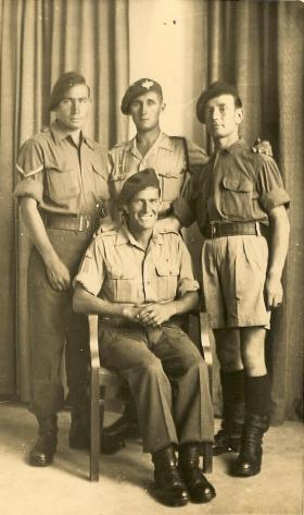LCpl McNeice with friends in Italy, October 1944.