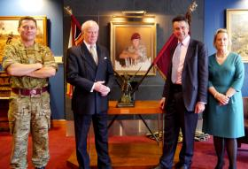 Paratrooper's portrait supports military charity, November 2013.