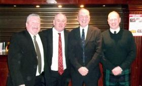 Veterans of 15 PARA (SV) at a Burns Supper 15 PARA (SV) Reunion, date unknown.