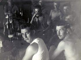 Members of 3 PARA relaxing, Canal Zone, c1953.