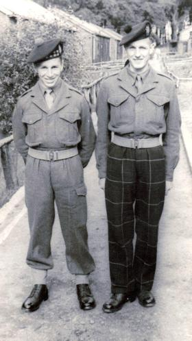 Pte Sinclair and unknown, 1951.
