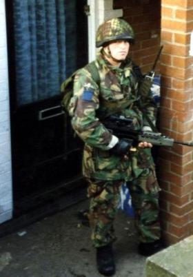 Pte Harker, 2 PARA, West Belfast, 1993.