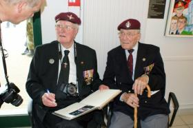 Bill Doherty and Bill Gladden at the 71st Normandy Commemorations, 5-7 June 2015.