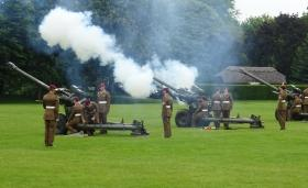 Airborne Gunners fire Royal Salute in Colchester, 11 June 2016.