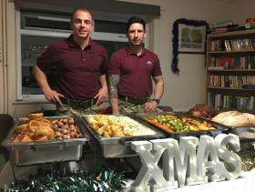 Army chefs help homeless in Colchester at Christmas, 2016.