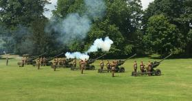 Airborne Gunners fire Royal Salute in Colchester. 17 June 2017.