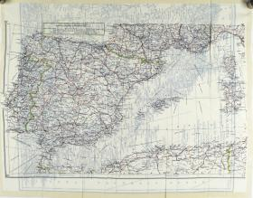 Map Silk of Spain and North Africa