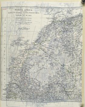 Map Silk of North Africa