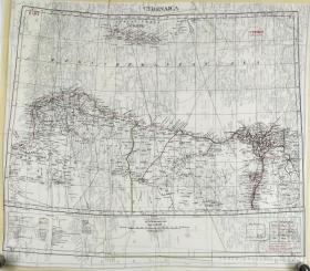 Map Silk of Cyrenaica (Eastern coastal region of Libya)