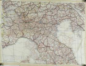 Map Silk of North Italy