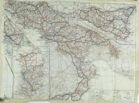 Map Silk of South Italy