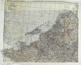 Map Silk of North West Europe