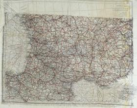 Map Silk of Italy, Spain and France