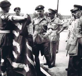 Lt Col Darling during a visit by senior officers, December 1945.