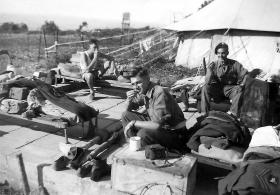 Members of the 6th Airborne Divisional Signal Regiment at Stella Maris Camp on Mount Carmel, Palestine, c1947.