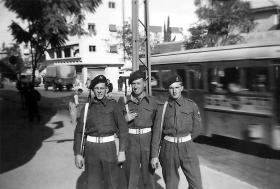 Members of 6th Airborne Divisional Signal Regiment, Palestine, 1947.