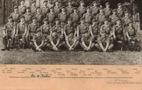 Group photograph of Platoon 217, signed by Col John Waddy, 1960