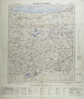 Map of Ez Zauia (Az Zawiyah) & El Maamura: Libya, North Africa. Ratio 1: 100,000