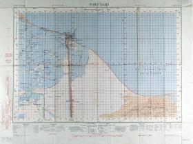 Map of Port Said. Ratio 1: 100,000
