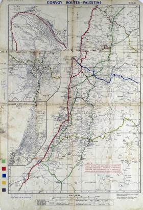Map of Convoy Routes in Palestine (Ratio 1: 500,000)
