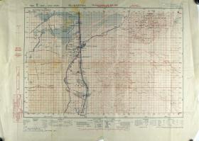 Map of El Qantara (eastern side of the Suez Canal) Ratio 1: 100,000
