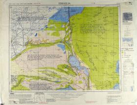 Map of Ismailia (The home of the Suez Canal) Ratio 1: 250,000